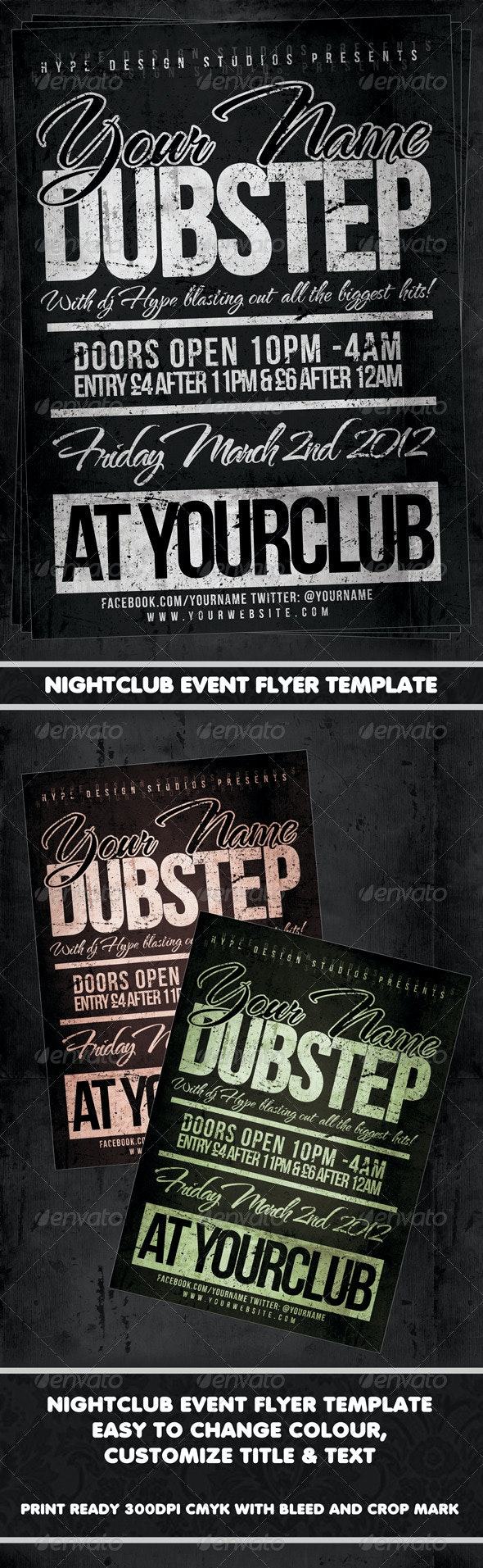 Nightclub Event Poster or Flyer - Clubs & Parties Events