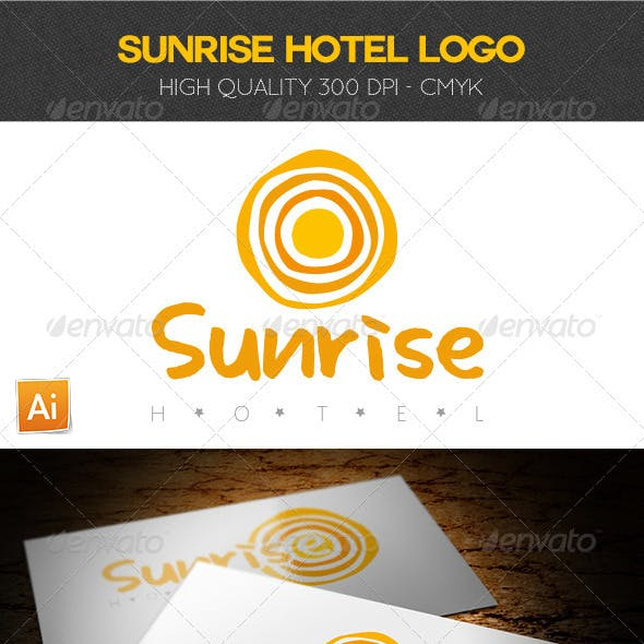 Sunrise Hotel Logo Template