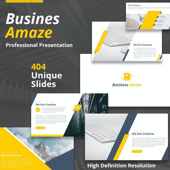 Business Amaze Google Slides Template