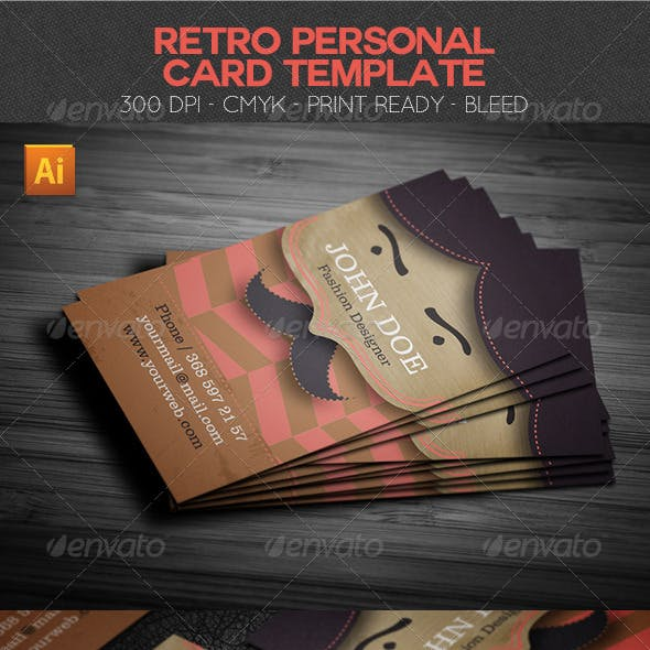 Retro Personal Card Template