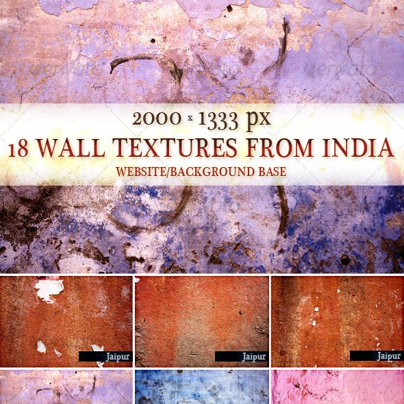 18 wall textures from India