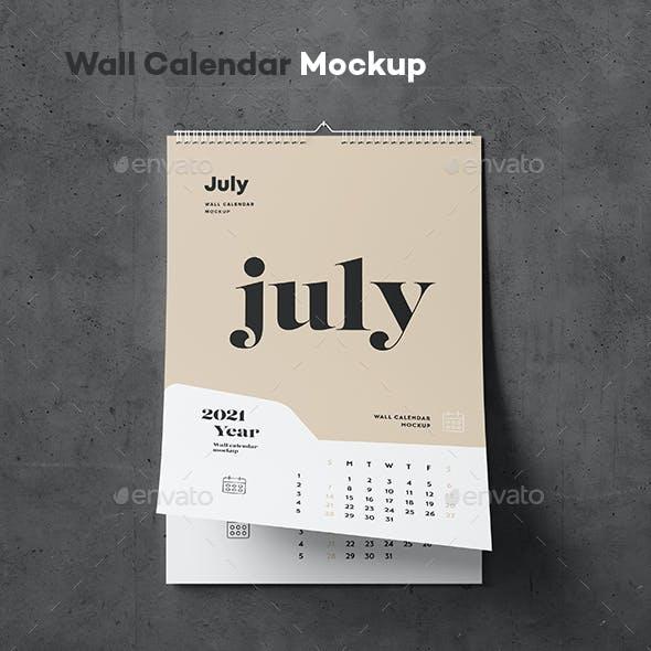 Wall Calendar Mock-up