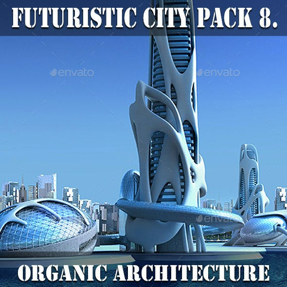 Futuristic City Pack 8. Organic Architecture