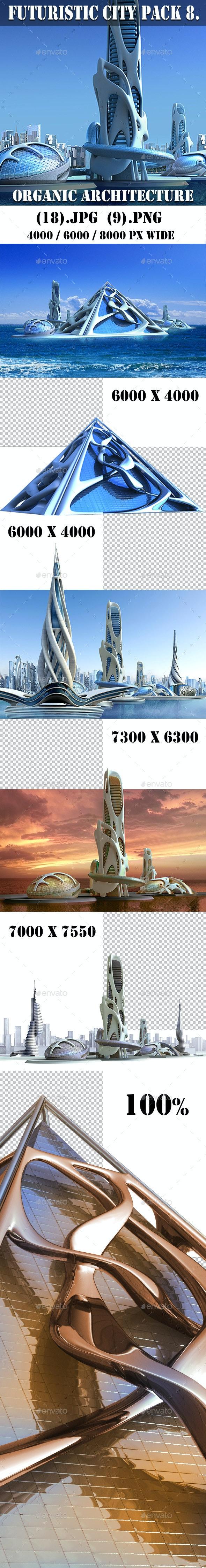 Futuristic City Pack 8. Organic Architecture - Architecture 3D Renders