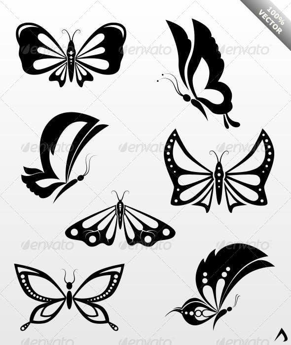 7 Decorative Butterflies By Alexanderdna Graphicriver