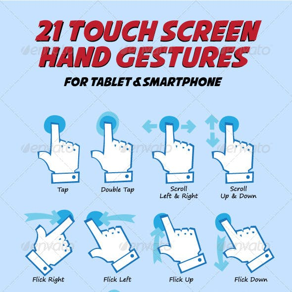 Touch Hand Gesture Pack