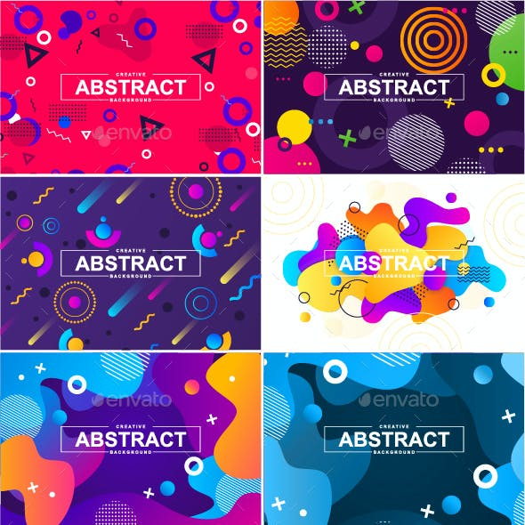 Geometric and Liquid Abstract Background Kit