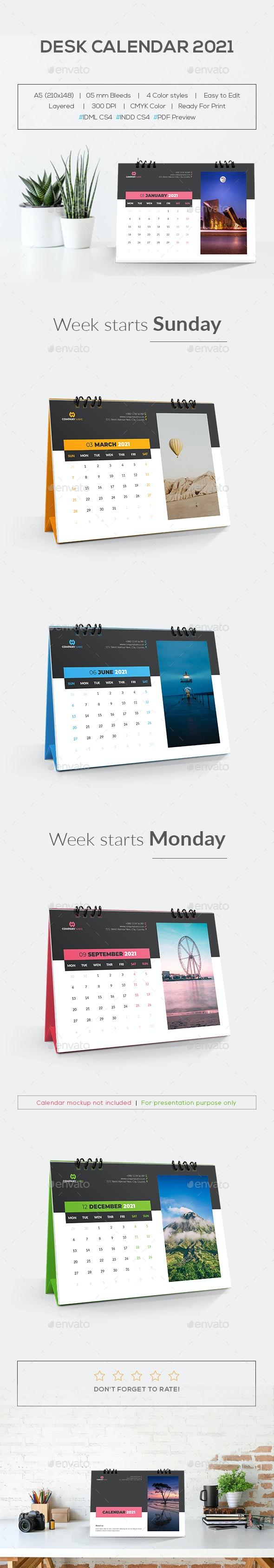 Desk Calendar 2021 by MstArtwork   GraphicRiver