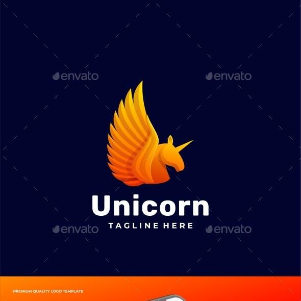 Unicorn Gradient Logo Template