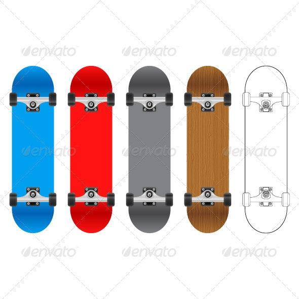 Skateboard - Sports/Activity Conceptual
