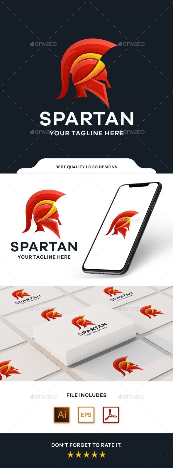 Spartan Gradient Colorful Logo Template - Abstract Logo Templates