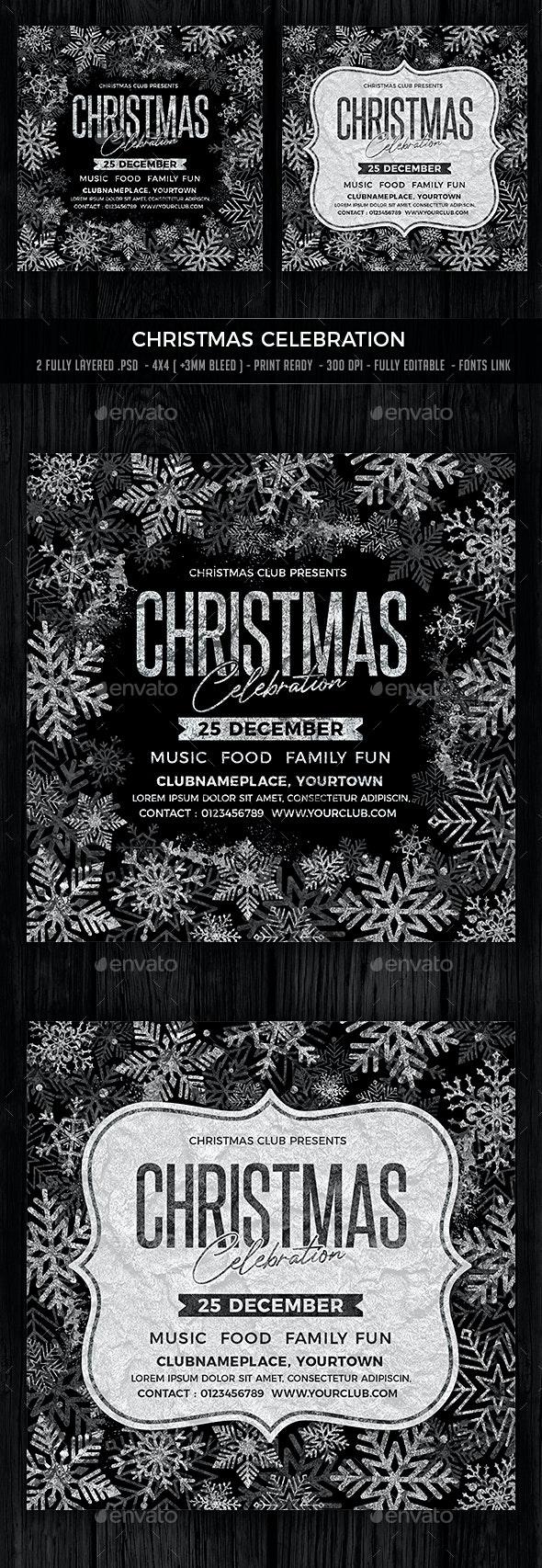 Christmas Celebration - Events Flyers