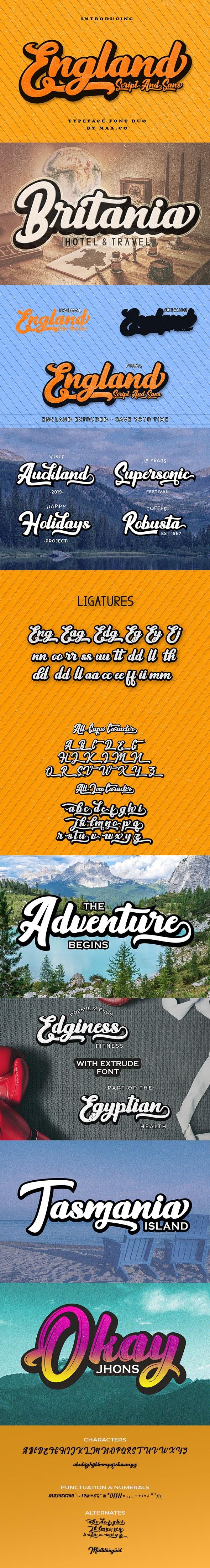 England Script - Script Fonts
