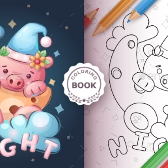 Pig in the Moon - Coloring Book
