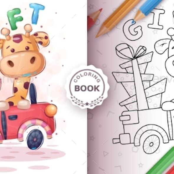 Giraffer in the Car - Coloring Book