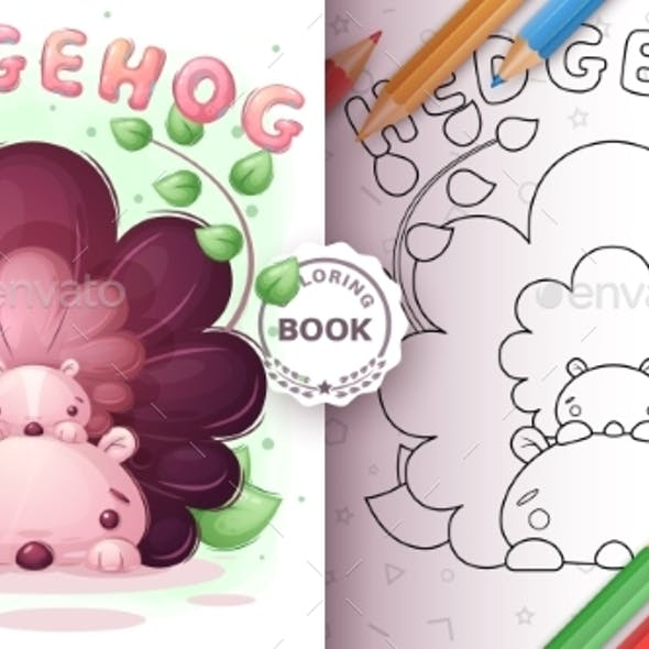 Hedgehog Family - Coloring Book