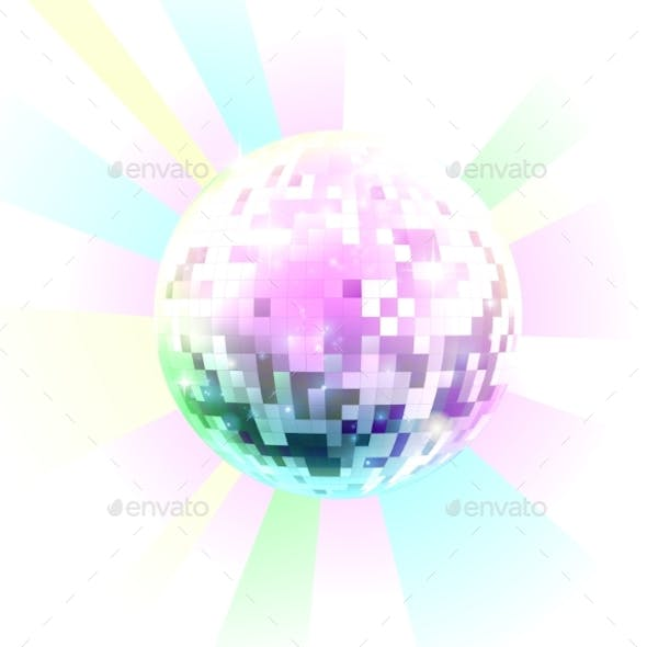 Retro Nightclub Disco Mirror Ball