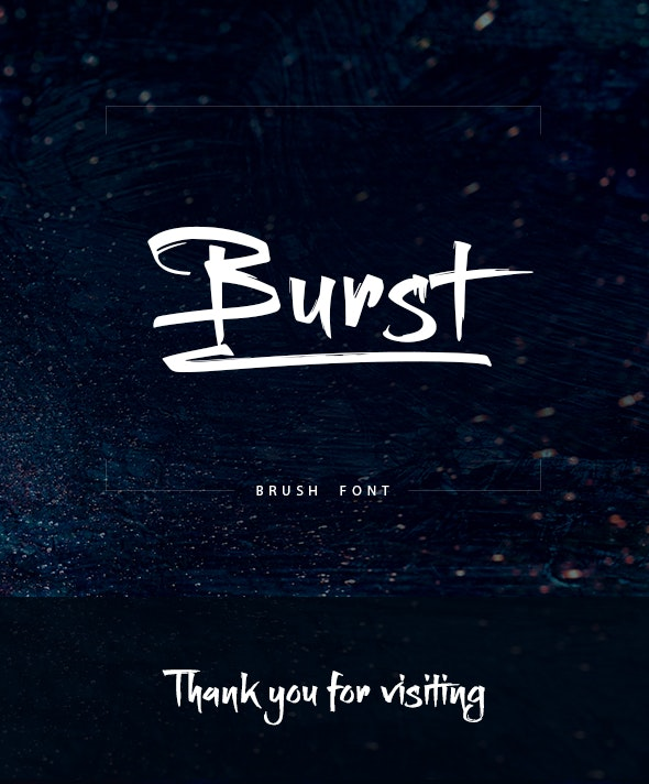 Burst Brush Font - Handwriting Fonts