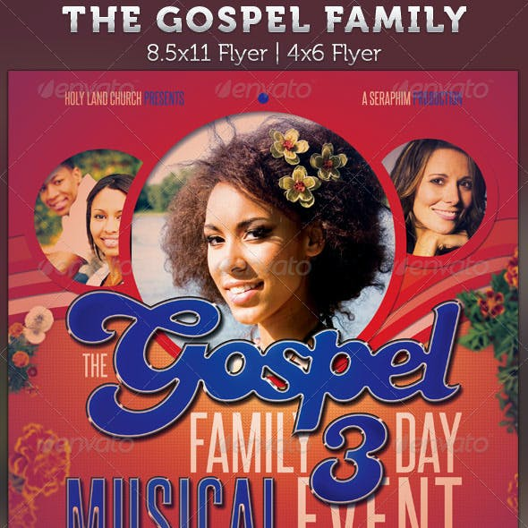 The Gospel Family Church Concert Flyer Template