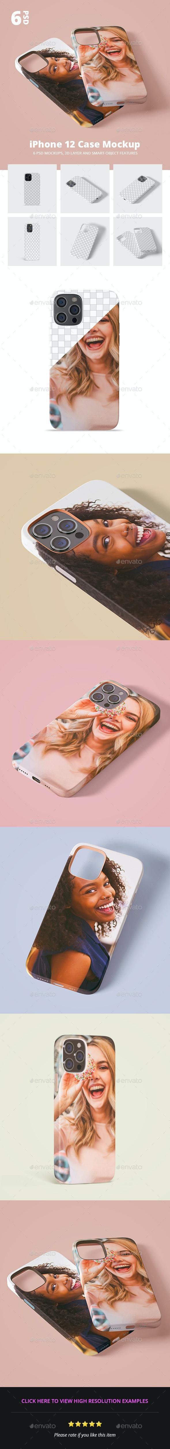 Phone 12 Case 3d Mockup - Mobile Displays
