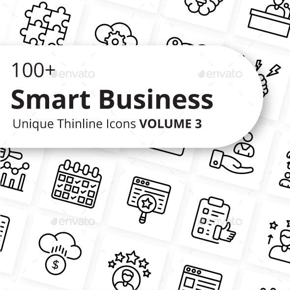 Smart Business Outline Icons Volume 3