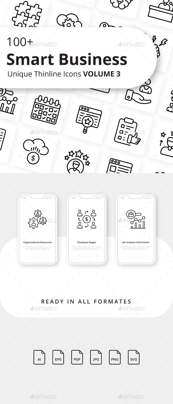 Smart Business Outline Icons Volume 3 - Business Icons