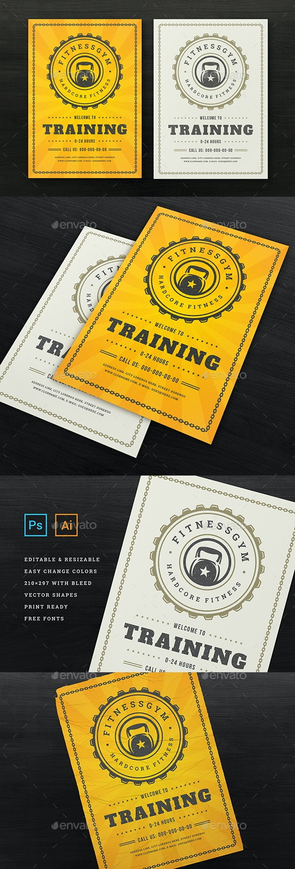 Fitness & Gym Sports Flyer Template - Sports Events