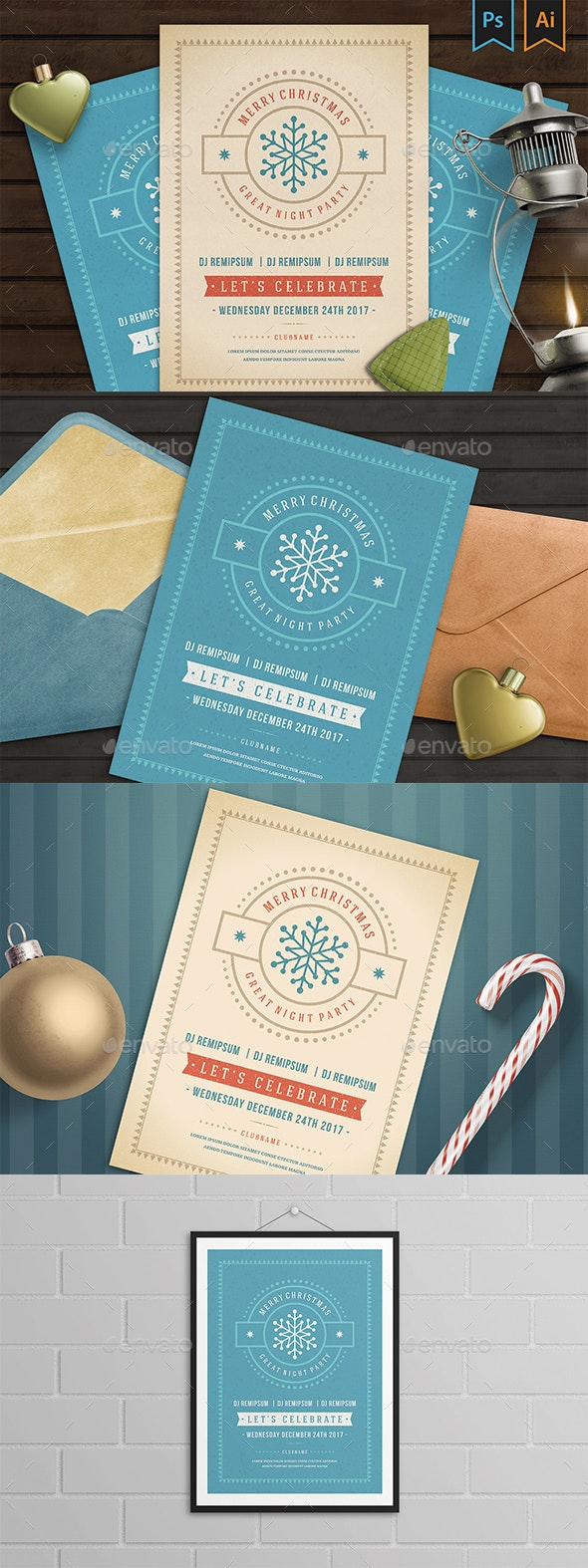 Christmas Party Invitation Flyer - Clubs & Parties Events