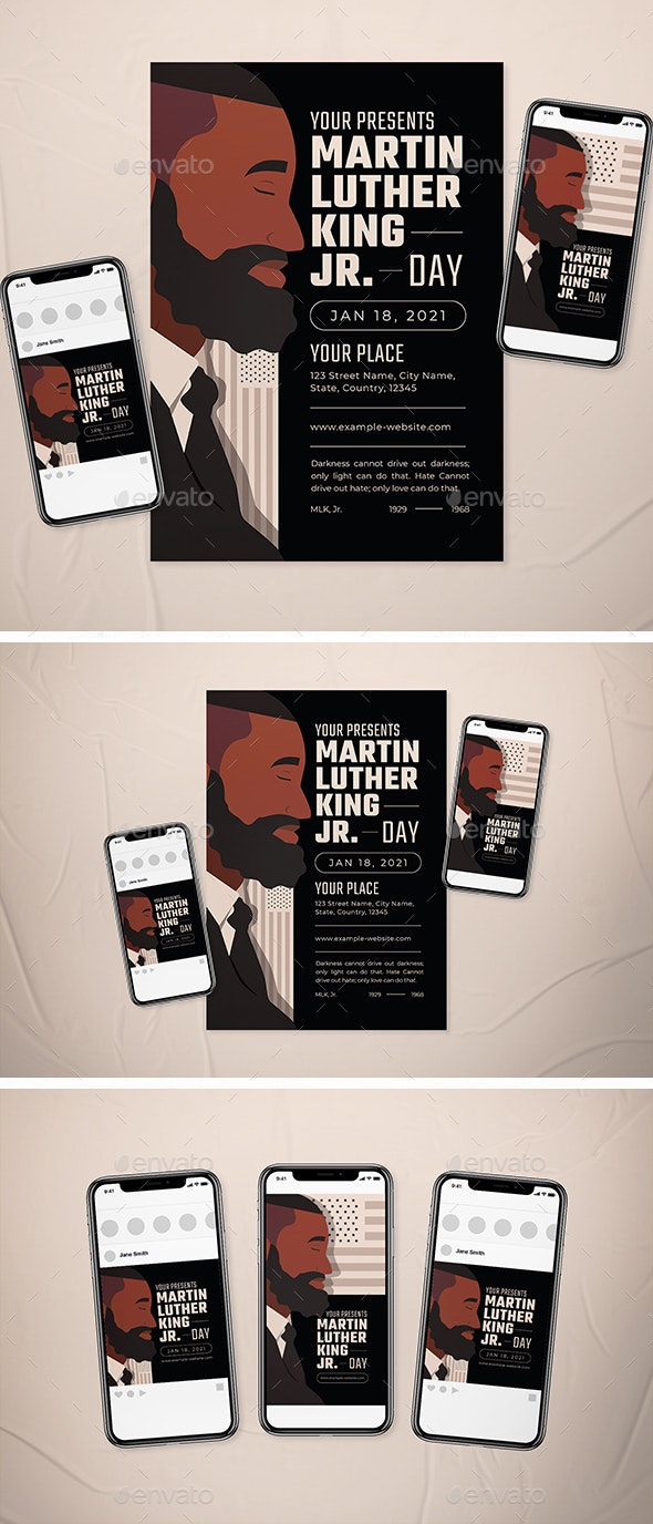 Martin Luther King Jr Day Flyer Set - Events Flyers