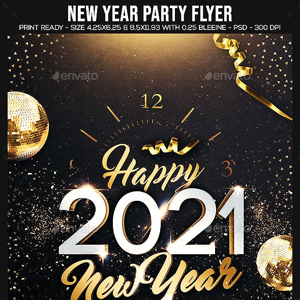 2021 New Year Party Flyer