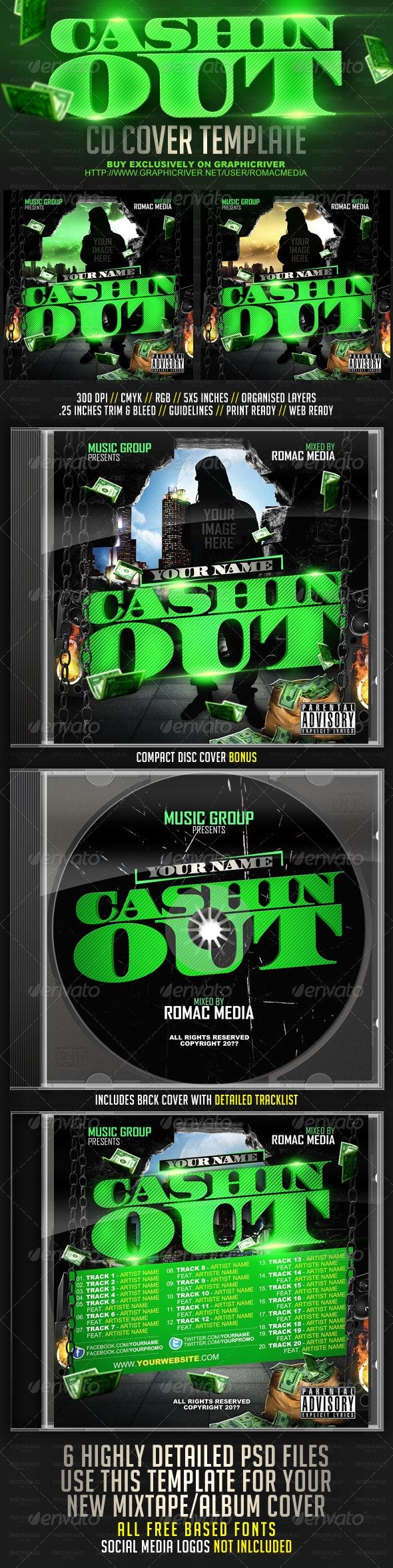 Cashin Out CD Cover - CD & DVD Artwork Print Templates