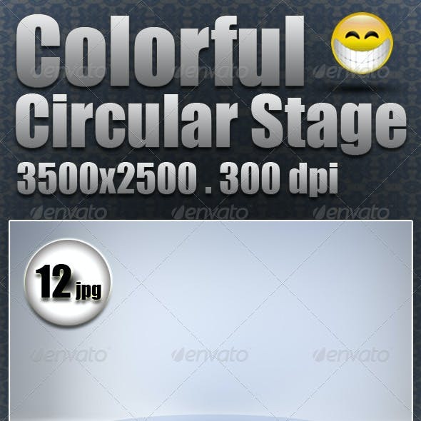 Colorful Circular Stage