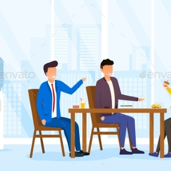 Lunch Time in Office Concept