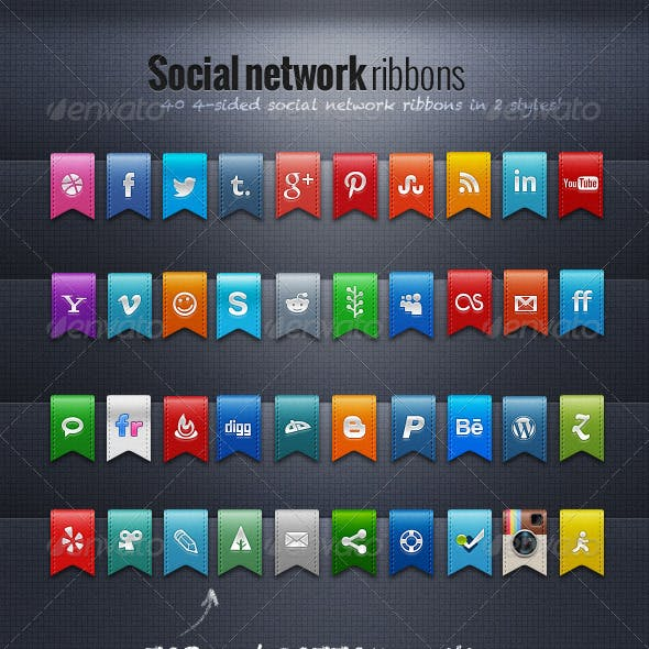 Social Network Ribbons