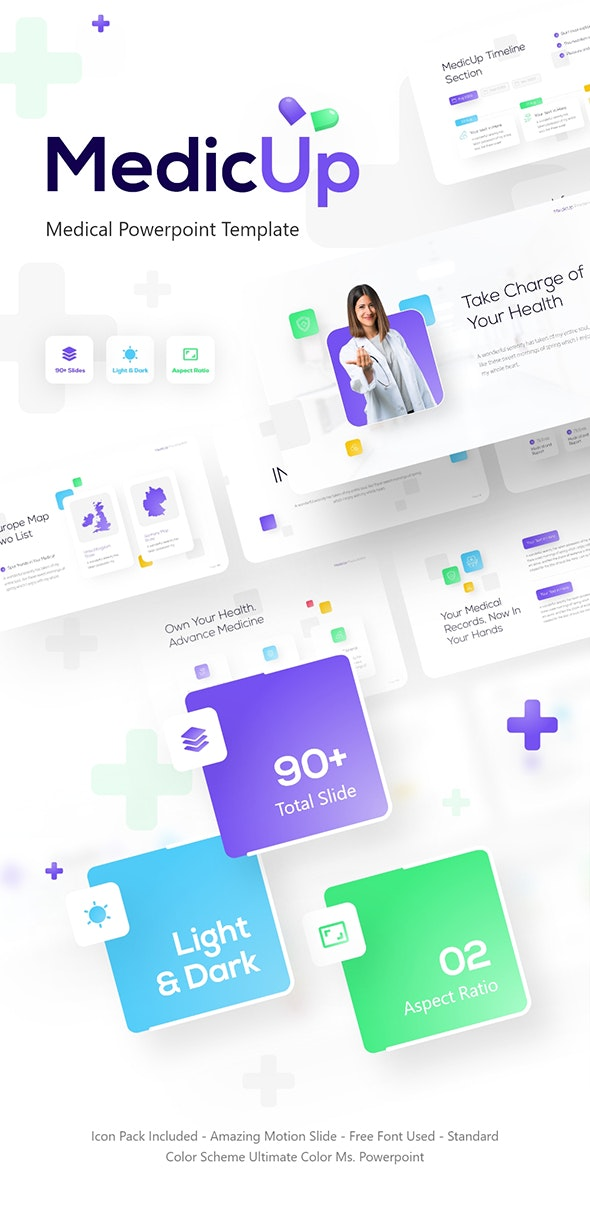 MedicUp Healthcare PowerPoint Template - Business PowerPoint Templates