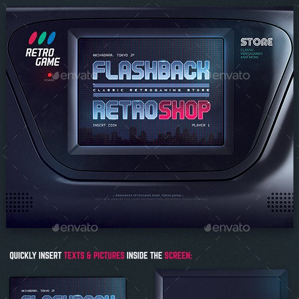 Retro Gaming 1980s Arcade Flyer Template