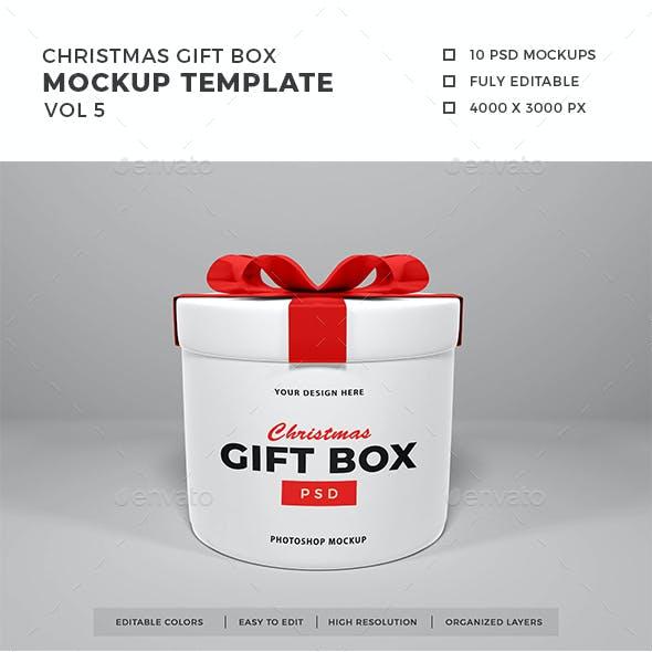 Christmas Gift Box Mockup Vol 5
