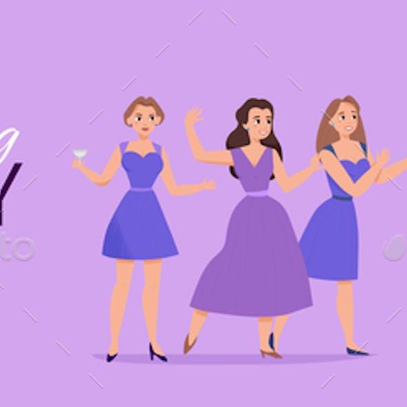 Wedding Party Background Banner