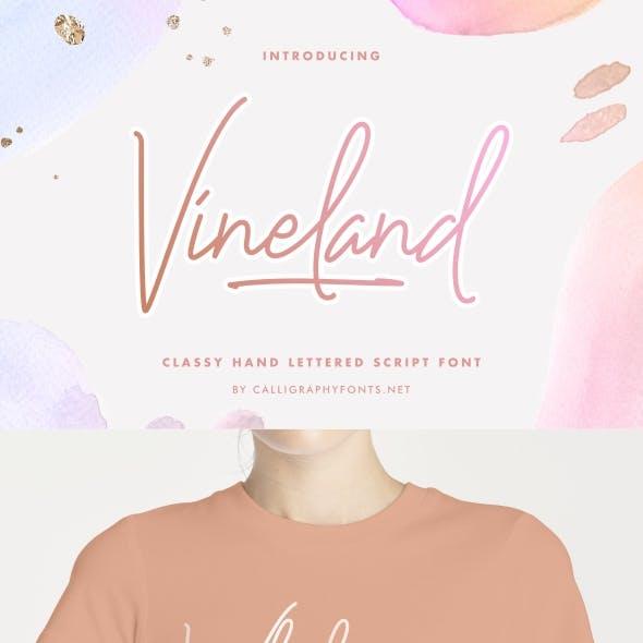 Vineland Hand Lettering Font