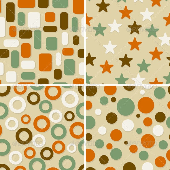 4  Seamless Patterns - Patterns Decorative