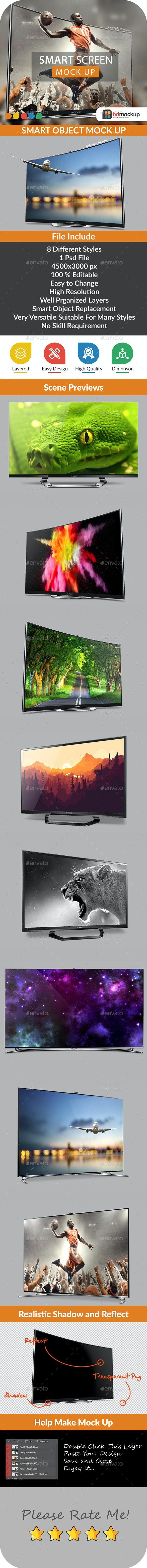 Smart Screen Mock Up - 004 - TV Displays