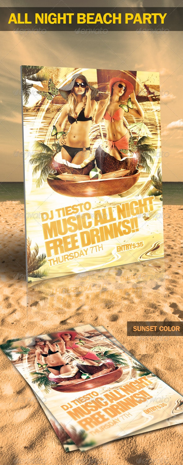 All Night Beach Party - Clubs & Parties Events