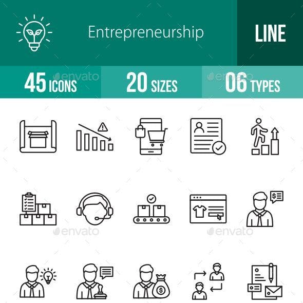 Entrepreneurship Line Icons