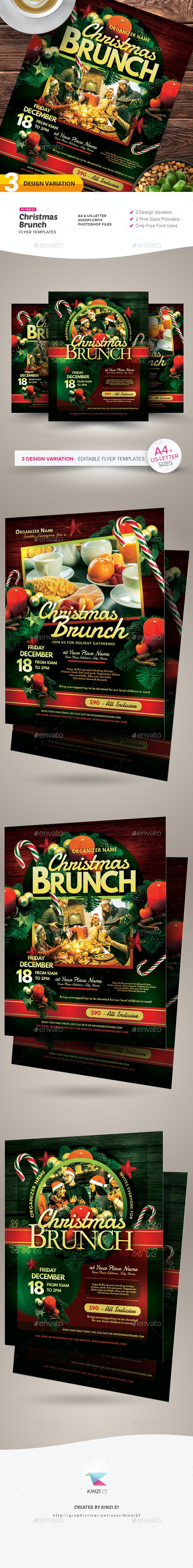 Christmas Brunch Flyer Templates - Holidays Events