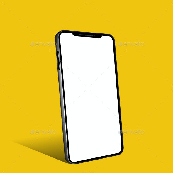 Phone Cell Smart Mobile 3D Device Mockup Icon
