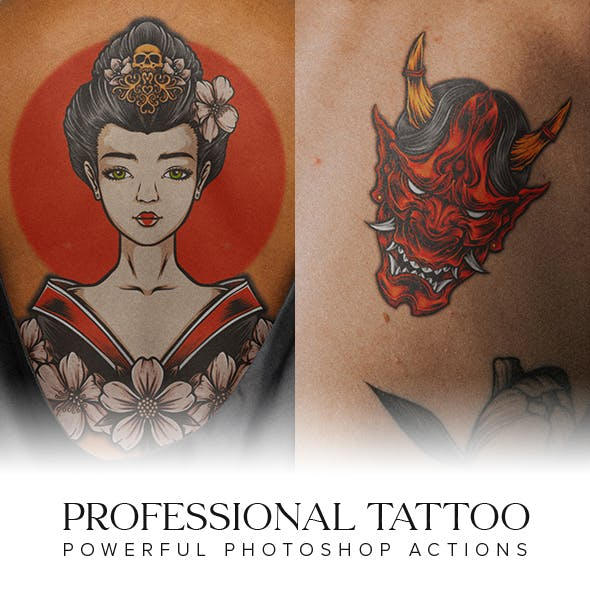 Professional Tattoo Photoshop Actions