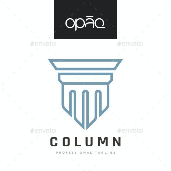 Artistic Column Monument Logo
