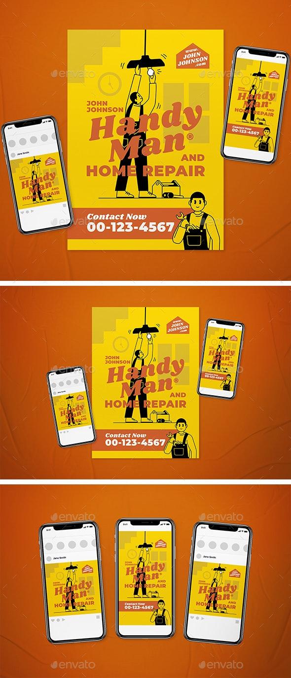 Handyman Flyer Set - Flyers Print Templates
