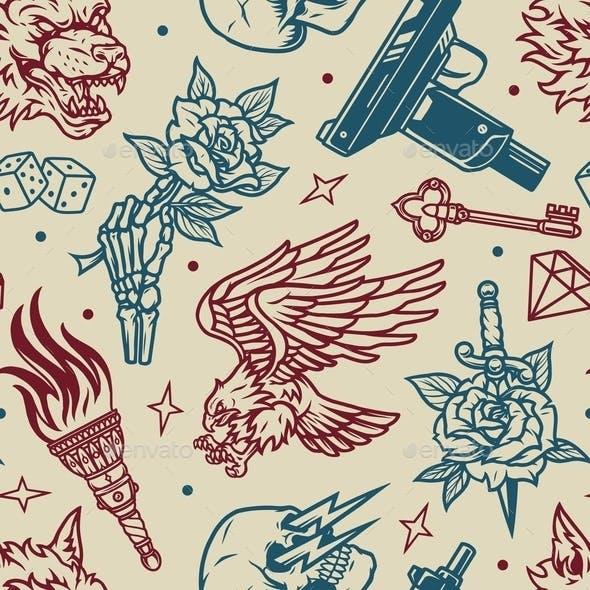 Vintage Tattoos Pattern