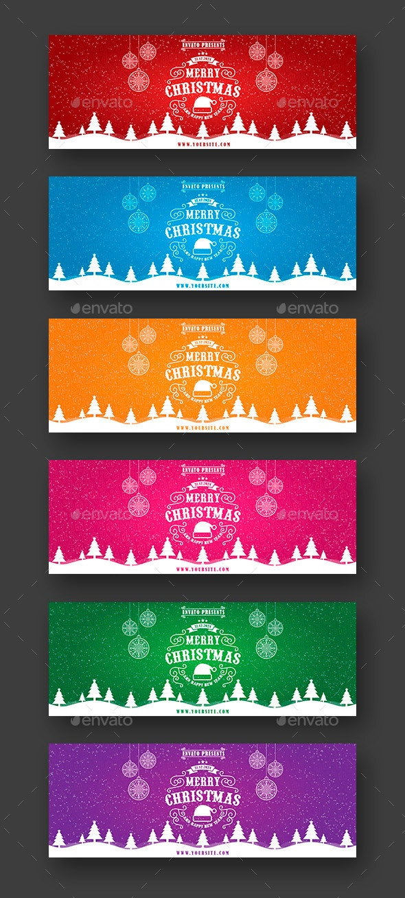 Merry Christmas & New Year Web Sliders - Sliders & Features Web Elements